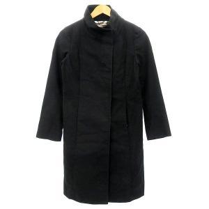 UNITED ARROWS SLITZ スタンドカラーコート ブラック サイズ:36 (明石店) 190914|kindal
