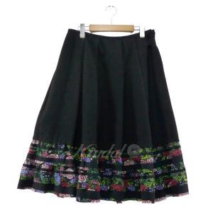 tricot COMME des GARCONS 2018AW 切替フレアスカート ブラック サイズ:M (なんば店) 190805|kindal