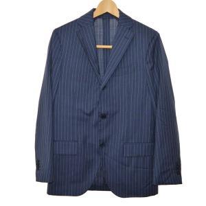 LARDINI ウールフレスコチョークストライプ3Bスーツ ネイビー サイズ:44 (なんば店) 190610 kindal