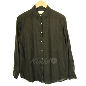 UNITED ARROWS リネンレギュラーカラーシャツ カーキ サイズ:38 (三宮店) 190915|kindal