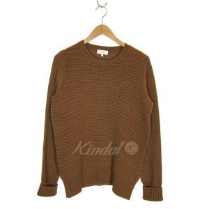 HYKE ウールワッフルニットセーター キャメル サイズ:1 (三宮店) 190914|kindal