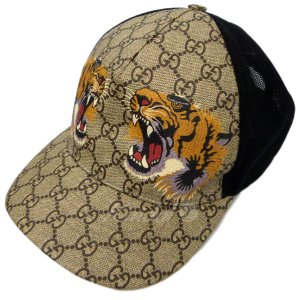 【SALE】 GUCCI 18SS 「GG Tiger Baseball Cap」GGスプリームタイガーベースボールキャップ サイズ:L/59 (四ツ橋店)|kindal