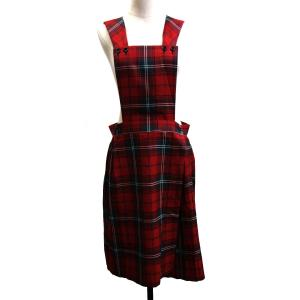 COMME des GARCONS SHIRT 11AW チェック吊りスカート レッド×グリーン サイズ:S (銀座店) 190612|kindal