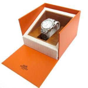 HERMES 「クリッパークロノ/CL1.310」 クロノグラフ腕時計 シルバー サイズ:- (銀座...