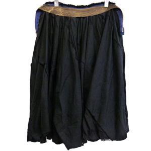 JUNYA WATANABE COMME des GARCONS 製品染めジップデザインフレアスカート ブラック サイズ:M (銀座店) 190820|kindal