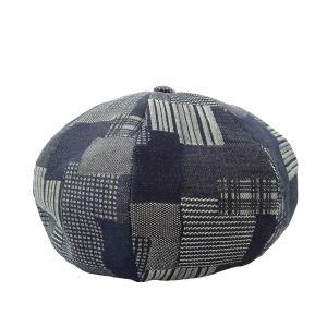 mitake インディゴ染めパッチワークベレー帽 ネイビー サイズ:1 (和歌山店) 191018|kindal