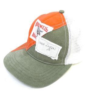 GREG LAUREN 「50/50 ORANGE / ARMY TRUCKER HAT」メッシュキャップ ホワイト×カーキ サイズ:- (新宿店AN kindal