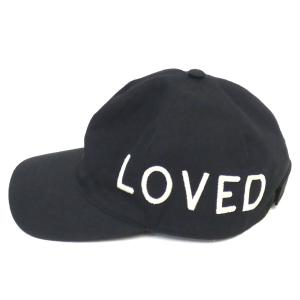 GUCCI 「Love Embroidered Baseball Cap」LOVE刺繍キャップ ブラック サイズ:M/58cm (新宿店ANNEX)|kindal