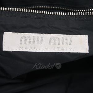 miu miu がま口ハンドバッグ ブラック×ピンク (天神橋店) 190604|kindal|04