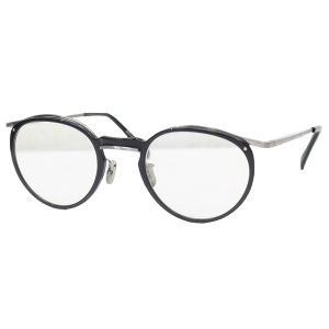 EYEVAN 7285 540 C.1000 ボストン型コンビネーションフレーム 眼鏡 ブラック×シルバー サイズ:46□22-145 (三軒茶屋店)|kindal