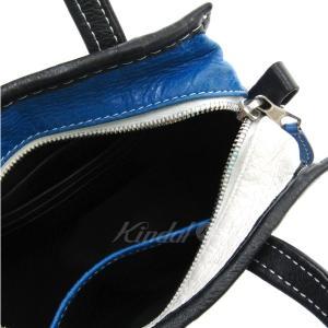 BALENCIAGA BAZAR SHOPPER バザール 2WAYバッグ スモールショッピングバッグ ブルー×ホワイト×ブラック サイズ:XXS ( kindal 03