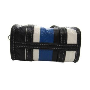 BALENCIAGA BAZAR SHOPPER バザール 2WAYバッグ スモールショッピングバッグ ブルー×ホワイト×ブラック サイズ:XXS ( kindal 04