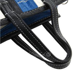 BALENCIAGA BAZAR SHOPPER バザール 2WAYバッグ スモールショッピングバッグ ブルー×ホワイト×ブラック サイズ:XXS ( kindal 05