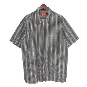 SUPREME 18SS Dots Zip Up Shirt ドットジップアップシャツ ブラック サイズ:XL (吉祥寺店) 190716|kindal