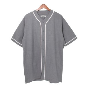 DISCOVERED 17SS ストレッチベースボールシャツ グレー サイズ:2 (吉祥寺店) 190817|kindal