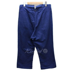 tricot COMME des GARCONS コットン リネン パンツ 13SS ブルー サイズ:M (高槻店) 190717|kindal