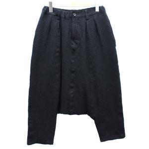 tricot COMME des GARCONS ウール サルエル パンツ 15AW 裏地水玉 ブラック サイズ:M (高槻店) 190706|kindal