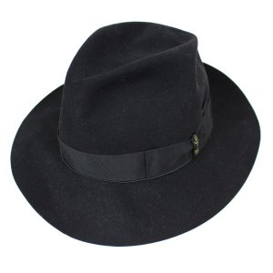 BORSALINO フェルトハット 帽子 ブラック サイズ:59cm (高槻店) 191016|kindal