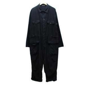 YOHJI YAMAMOTO pour homme コットン フランネル ジャンプ スーツ 17AW つなぎ オーバーオール オールインワン ブラック kindal