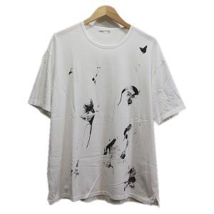 LAD MUSICIAN 18SS ペンキTシャツ 【色:ホワイト】 【サイズ:42】 【状態:Bラ...