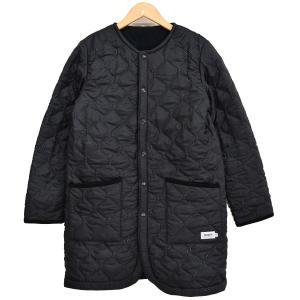 ARMEN ノーカラーキルティングコート ブラック サイズ:1 (新潟亀田店) 190920|kindal