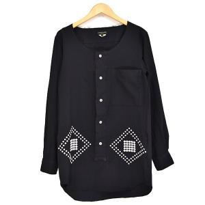 COMME des GARCONS HOMME PLUS ノーカラーロングシャツ 2013AW ブラック サイズ:XS (新潟亀田店) 190817|kindal