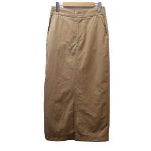ebure コットンリネンフロントスリットスカート ベージュ サイズ:38 (恵比寿店) 190715 kindal