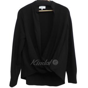 3.1 phillip lim 18SS フロント開きVラインカーディガンシャツ ブラック サイズ:0 (下北沢店) 190914 kindal
