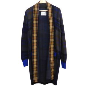sacai ショールカラーベルテッドガウンコートジャケット ネイビー サイズ:1 (下北沢店) 190821|kindal