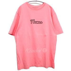 【7月1日値下】Thames ロゴプリントTシャツ ピンク サイズ:L (池袋店)|kindal