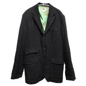 MR.HEARTS リネンキャンバス3Bラペルジャケット ブラック サイズ:L (池袋店) 190820|kindal