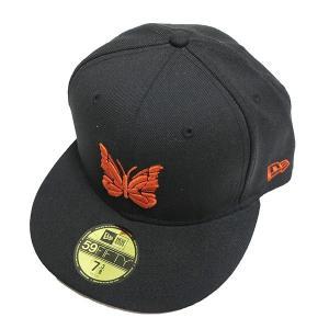 NEW ERA ×NEEDLESベースボールキャップ ブラック×オレンジ サイズ:58.7cm (阿佐ヶ谷店) 190904 kindal