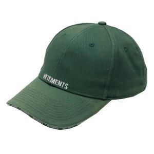 VETEMENTS ロゴベースボールキャップ 帽子 グリーン サイズ:- (青山店) 191001|kindal