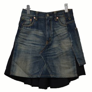 JUNYA WATANABE COMME des GARCONS ドッキング レイヤード風 デニムスカート インディゴ サイズ:XS (二子玉川店)|kindal