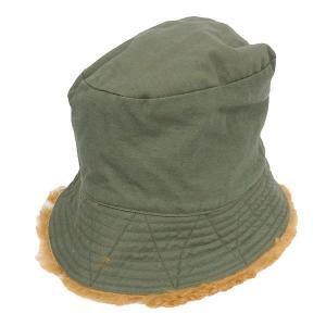 Engineered Garments REVERSIBLE BUCKET HAT FAKE FUR リバーシブルバケットハット カーキ サイズ:L|kindal