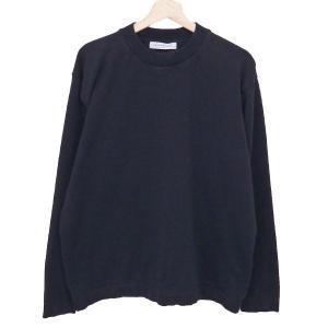 UNITED ARROWS TOKYO プレーティングクルーネック ニット セーター ブラック サイズ:L (奈良三条通り店) 190819|kindal