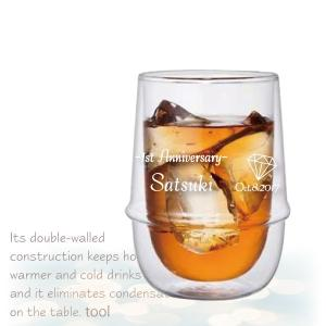名入れ KINTO ダブルウォール アイスティー グラス 使いやすさ をきわめたデザイン Lサイズ