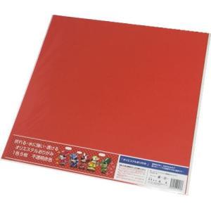 東洋紡 オリエステルおりがみ(赤色) 水に濡れても平気な折り紙 大判(43*43cm) 5枚入|king-depart