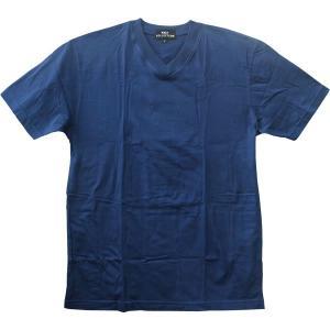 綿100% Vネック Tシャツ 5着組み ネイビー Lサイズ