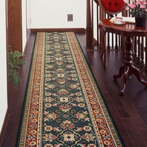廊下敷き 廊下マット ベルギー製 廊下用絨毯 〜ラリスタン〜 グリーン 幅66cm×長さ240cm|king