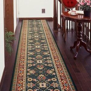 廊下敷き 廊下マット ベルギー製 廊下用絨毯 〜ラリスタン〜 グリーン 幅66cm×長さ180cm|king