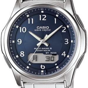 CASIO カシオ ウェーブセプター M630D メンズ ネイビー (通販限定モデル) ステンレスバンド マルチバンド6 ソーラー電波時計 Wave Ceptor|king|03