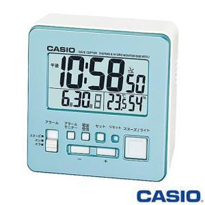 カシオ ウェーブセプター 電波置き時計 805J (パールブルー) デジタル 温度・湿度計付き 2015年モデル|king