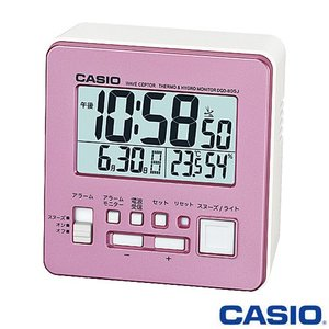 カシオ ウェーブセプター 電波置き時計 805J (パールピンク) デジタル 温度・湿度計付き 2015年モデル|king
