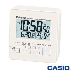 カシオ ウェーブセプター 電波置き時計 805J (ホワイト) デジタル 温度・湿度計付き 2015年モデル|king