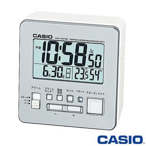 カシオ ウェーブセプター 電波置き時計 805J (シルバー) デジタル 温度・湿度計付き 2015年モデル|king