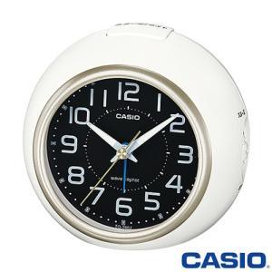 カシオ ウェーブセプター 電波置き時計 760J (ホワイト/シャンパンゴールド) 秒針停止機能付き 2015年モデル|king