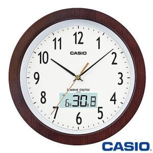 カシオ ウェーブセプター 壁掛け電波時計 1110J (濃茶) アナログ 月・日・曜日表示 2015年モデル|king