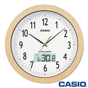 カシオ ウェーブセプター 壁掛け電波時計 1110J (白木) アナログ 月・日・曜日表示 2015年モデル|king