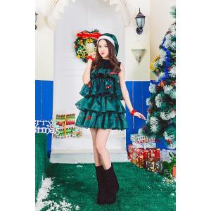 サンタ コスプレ クリスマス コスチューム サンタコス クリスマスツリー レディース サンタクロース コスプレ 大きいサイズ 大人 サンタ 衣装  X'masグッズ